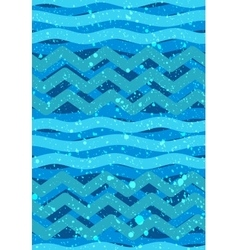 Abstract waves seamless patterns - nautical sea vector
