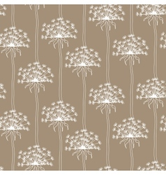 Dry dandelion flowers - abstract seamless pattern vector