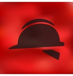 Helmet icon on blurred background vector