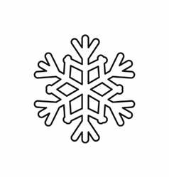 Snowflake icon outline style vector