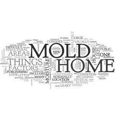 A bit about mold text word cloud concept vector