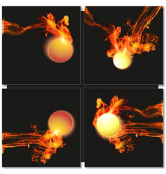 Abstract fire ball background vector