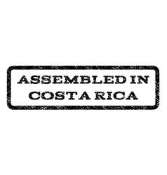 Assembled in costa rica watermark stamp vector