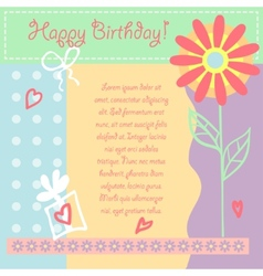 Birthday card gift card vector image vector image