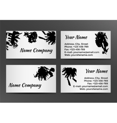 Black and white business card with inkblots vector