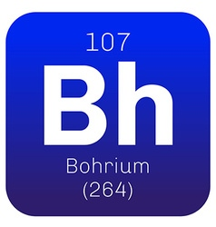 Bohrium chemical element vector