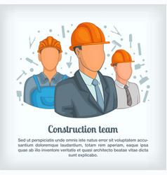 Building team concept cartoon style vector