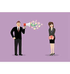 Businessman flirt with a woman at work vector