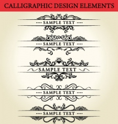 Calligraphic design element vector
