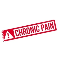 Chronic pain rubber stamp vector