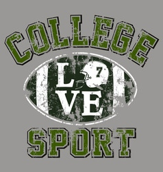 college Football vector image