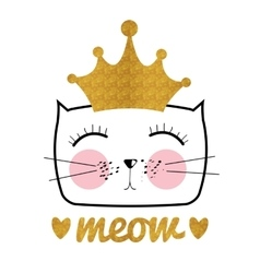 Cute Hand Drawn Cat Little vector image vector image