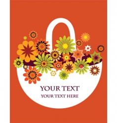 flowers in basket vector image