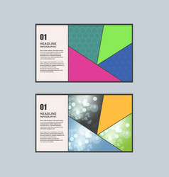 geometric triangular design style vector image