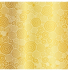 Golden abstract swirls seamless pattern vector