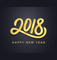 Happy new year 2018 greeting card design vector