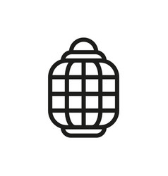 hinese paper lanterns icon on white background vector image vector image