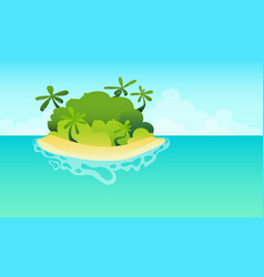 Island in the ocean with the beach vector