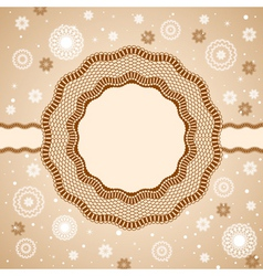 lace rosettes snowflakes vector image vector image