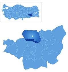 Map of diyarbakir - dicle is pulled out vector