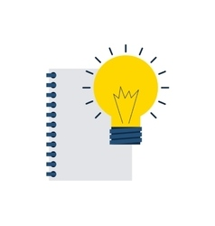 notebook with business icon vector image
