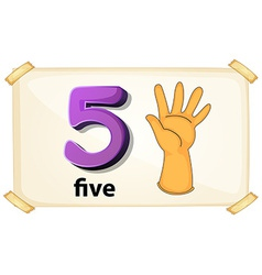 Number 5 vector image vector image