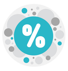 of trade symbol on percent vector image vector image