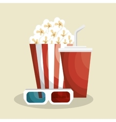 Pop corn with soda vector
