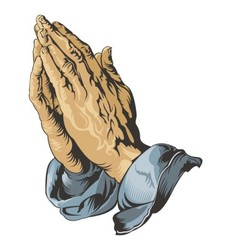 Praying Hands tattoo vector image vector image