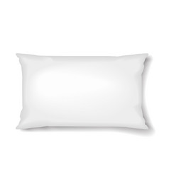 rectangular pillow pillow template isolated on vector image vector image