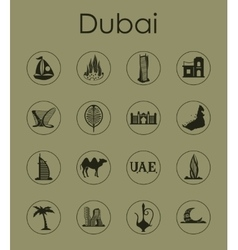 Set of Dubai simple icons vector image vector image