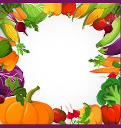 vegetables decorative frame vector image vector image