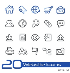 Web Site Icons Outline Series vector image vector image
