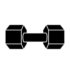 Weight gym equipment icon vector