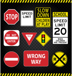 Road sign pack vector