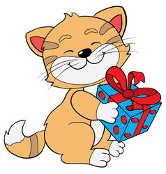 greeting card gift joy eps 10 vector image