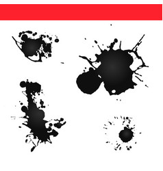 Paint splatter  splash ink vector