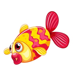 A pouty fish vector