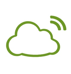 A four leaf clover of cloud icon with rss sign vector