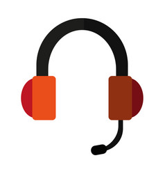 Headset headphones and microphone icon imag vector