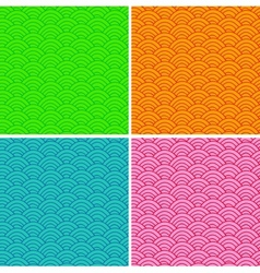 Set of colorful abstract seamless patterns vector