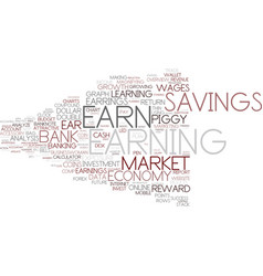 Earning word cloud concept vector