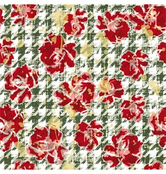 Floral grunge wallpaper vector