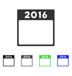 2016 year calendar template flat icon vector