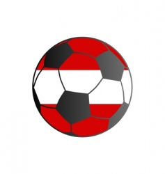 Flag of austria and soccer ball vector