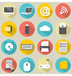 Flat Design Computer Icons vector image