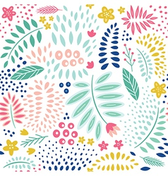 seamless abstract floral pattern vector image