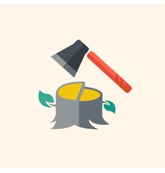 Forestry flat icon vector