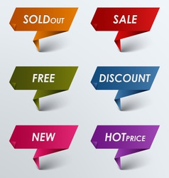 Paper colored pointer sale discount vector