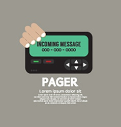 Pager the old wireless telecommunication vector